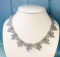 Crystal Laced Necklace - Beadwork Necklace Kit with SWAROVSKI® Crystal Xilions (Bronze and Blue)